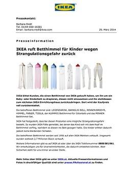 Ikea Ruft Betthimmel Fur Kinder Wegen Strangulationsgefahr Zuruck