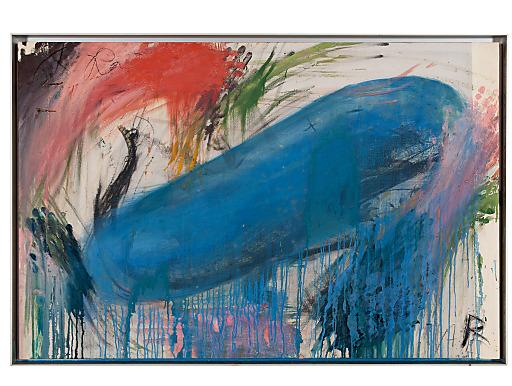 Arnulf Rainer / Ohne Titel / Undatiert / Ölkreide, Öl auf Fotoleinen auf Holz / 80x120 cm.