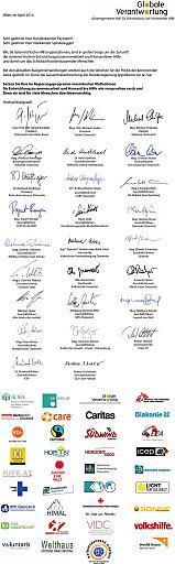 Offener Brief an Kanzler und Vizekanzler