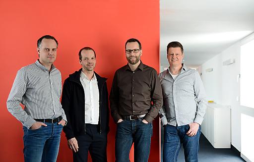 Zueinandergefunden: Tim Bögelein (RTS Rieger Team), Albert Ortig (Netural), Stephan Beck (Netural Deutschland), Jörg Dambacher (RTS Rieger Team).