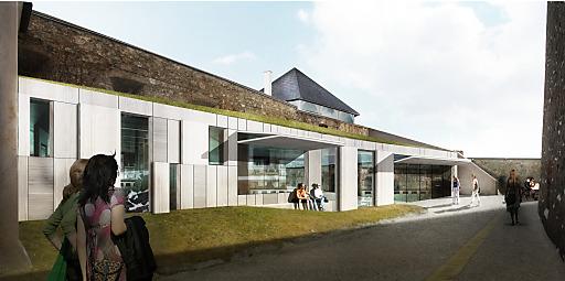 Visualisierung Neubau Restaurant Burg Forchtenstein