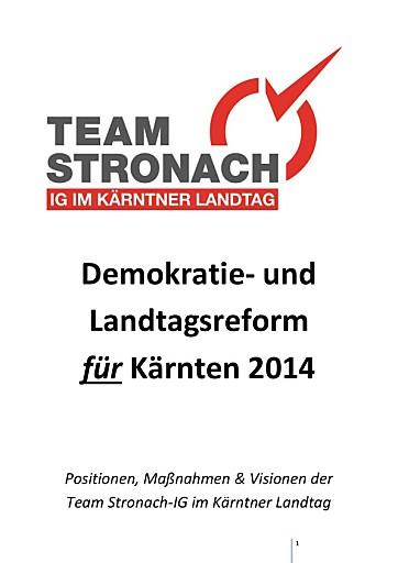 Demokratiereform: Team Stronach für Kärnten präsentiert klare Positionierung und mutige Reformideen