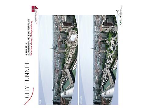 CITY TUNNEL - Großzügiger neuer Platz durch Untertunnelung