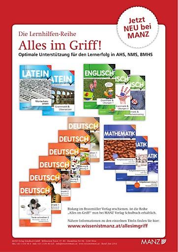 """Manz Verlag Schulbuch GmbH kauft die Lernhilfenreihe """"Alles im Griff"""" von der Braumüller GmbH"""