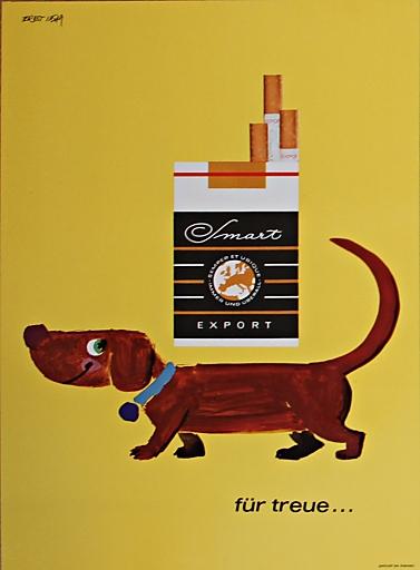 Smart-Zigarettenwerbung aus dem Jahr 1973, Copyright: Ernst Insam