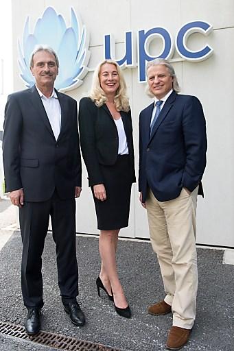 v.l.n.r. Kurt Plangger, Vice President UPC Tirol und Vorarlberg, Silvia Schöpf, Vice President UPC, Thomas Hintze, Vorsitzender des Aufsichtsrates von UPC Austria (Abdruck honorarfrei)