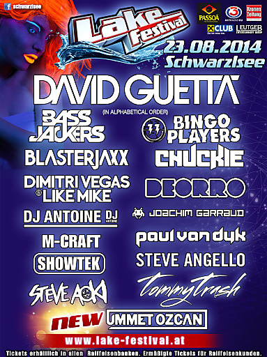 """""""Lake Festival Vol. 5"""" feat. the top DJs of the world! 23.08.2014"""