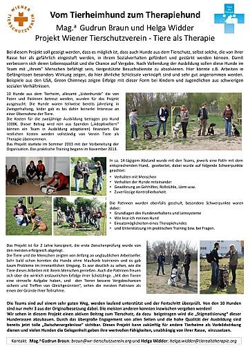 Trainer des Wiener Tierschutverein erreichen den ersten Platz beim Josef-Leibetseder-Posterwettbewerb