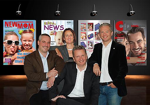 taco media-Team: Peter Leinweber, Eva Sorantin, Kurt Ohnesorg (sitzend), Rober Holzhacker