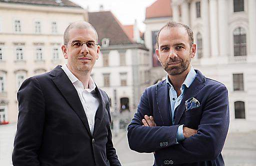 WEST4MEDIA _ Hajek_Strohmer.jpeg: (vlnr) Peter Hajek (GF Peter Hajek Public Opinion Strategies) und Mag. Alexander Strohmer (GF WEST4MEDIA)