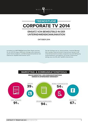 Video und Film in der Unternehmenskommunikation: 49% von Österreichs Top500-Unternehmen stehen noch am Anfang