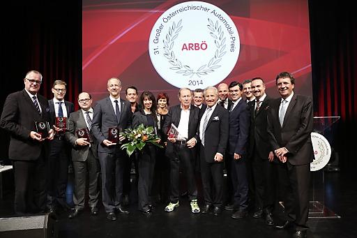 Die Sieger und Preisträger des 31. Großen Österreichischen Automobilpreises des ARBÖ 2014