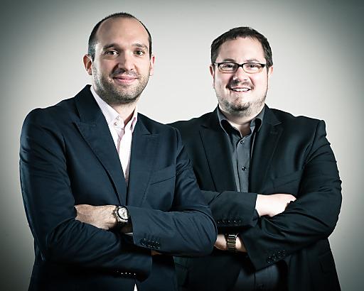 Die Media Brothers - v.l.n.r.: Stephan Gustav Götz, Armin Rogl, MSc (beide MediaBrothers GmbH)