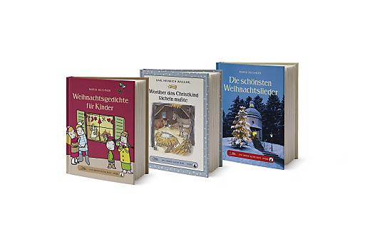 """Die vorweihnachtlichen Titel aus der Servus-Buchreihe """"Das große kleine Buch"""". Bildnachweis: Servus Verlag / Abdruck honorarfrei!."""