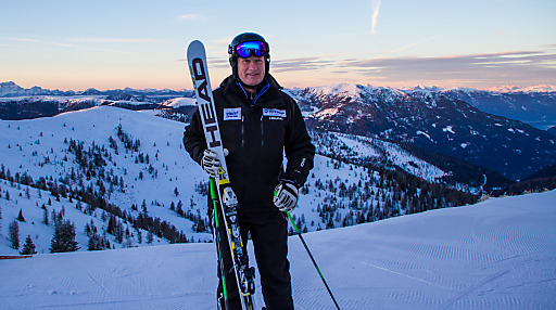 """Skikaiser Franz beim """"Ski vor 9 mit Franz Klammer"""" in Bad Kleinkirchheim - buchbar zu bestimmten Terminen."""