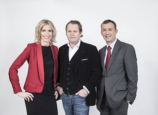 ATV-Geschäftsführer Martin Gastinger (mitte) holt sich Michael Weihs (rechts) als CFO ins Team. Ina Bauer (links) wird Director of Sales, Marketing & New Media.