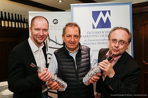 Im Bild: Marcus Zinn, WilliBalanjuk, Peter Drobil.