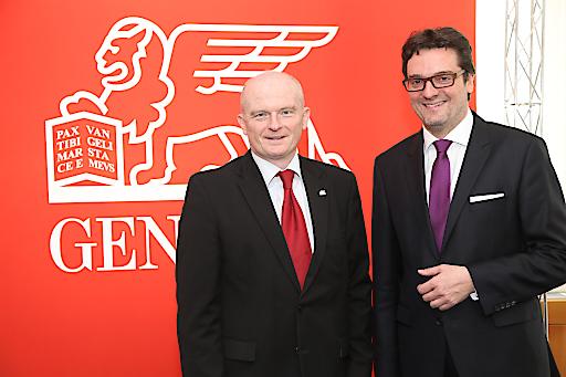 http://www.apa-fotoservice.at/galerie/6539 Im Bild v.l.n.r.: Generali CEO Peter Thirring und CFO Klaus Wallner präsentieren ein Rekordergebnis