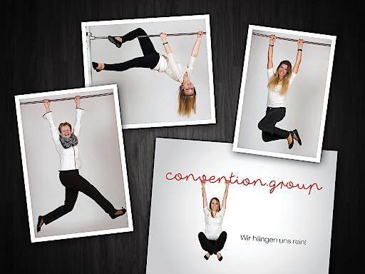 Eindrücke aus dem Foto-Shooting der neuen convention.group Kampagne