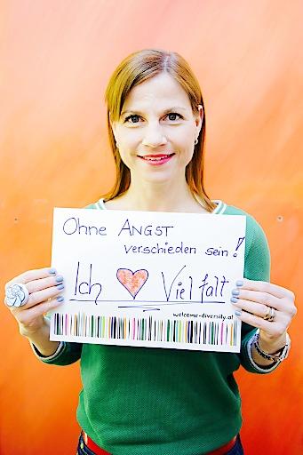 Kristina Sprenger und ihr Statement für Vielfalt