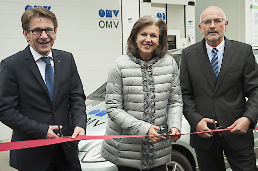 Eröffnung der Wasserstoff-Tankstelle