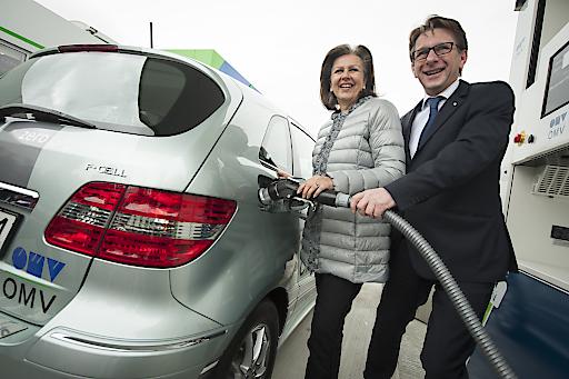 Betankung eines Wasserstoff-Autos