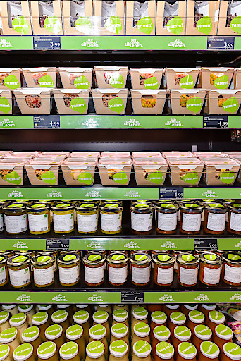 Vegetarische / Vegane yamm! Vielfalt - ab sofort bei MERKUR Hoher Markt erhältlich