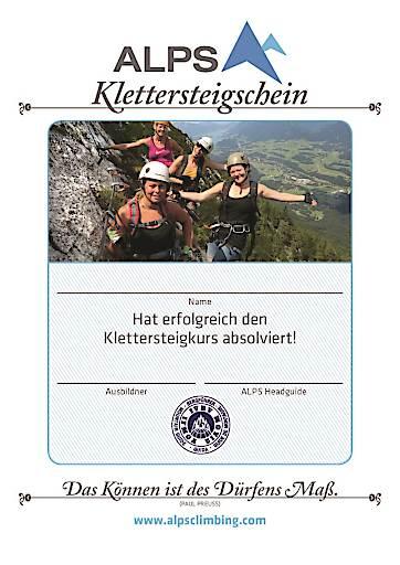In den Wiener Alpen in Niederösterreich, dem Kletterzentrum in Ostösterreich, bietet ALPS neuerdings Kurse an, in denen man den Klettersteigschein erwerben kann.