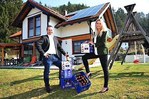 Dr. Stefan Jausz, Geschäftsführer Griffner Haus & Caroline Kröpfl, Marketingleiterin Brauerei Hirt