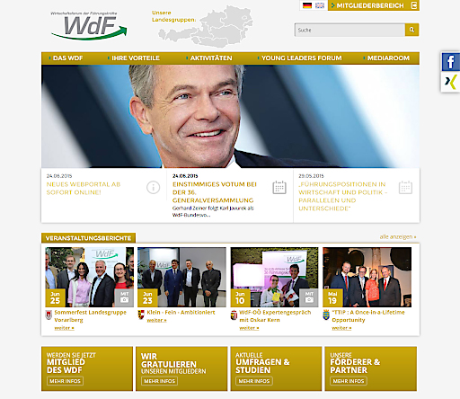 Neues Design für WdF-Website