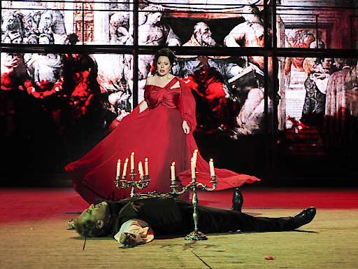 """Szenenbild """"Tosca"""" im Steinbruch St. Margarethen"""