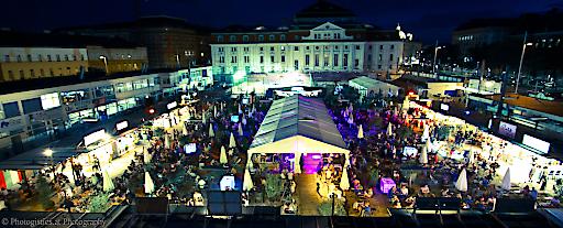 Panorama Foto von SandintheCity bei Nacht