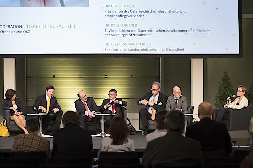 """Podium des Zukunftsforums """"Standortfaktor Gesundheit"""" auf der Kommunalmesse 2015 in Wien"""