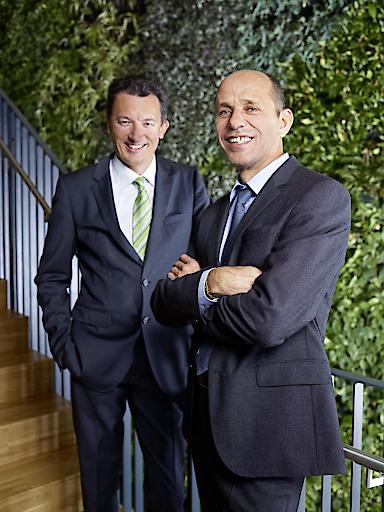 von links: DI Simon Grasser, Dr. Werner Scherf (CEO)