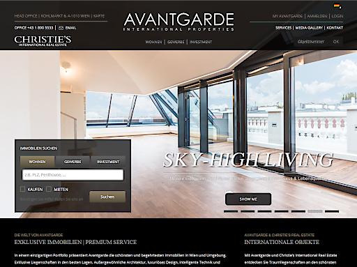 Startseite von www.AvantgardeProperties.com