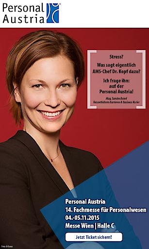 """Mag. Sandra Baierl,Ressortleiterin Karrieren und Business bei der österreichischen Tageszeitung KURIER, moderiert den AMS Experten Talk zum Thema """"Mit Gesundheit in Führung gehen""""."""