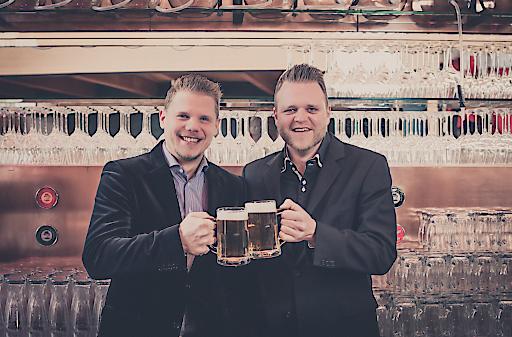 Die beiden Geschäftsführer Michael Dvoracek und Gernot Pöchl (v.l.).