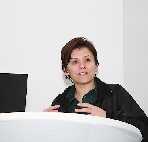 die Künstlerin Marina Naprushkina bei der Verleihung des Anni und Heinrich Sussmann Kunst Preises im Jüdischen Museum Wien.