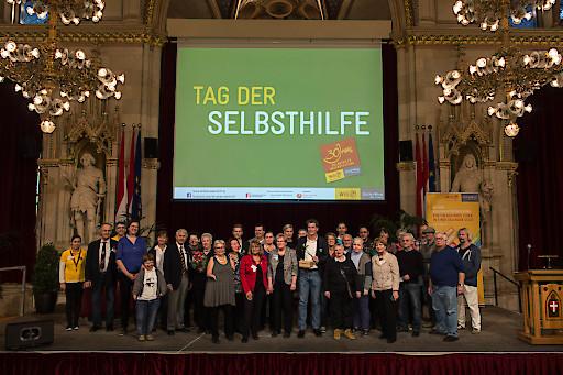 """Über 80 Selbsthilfegruppen feierten im Wiener Rathaus beim Tag der Selbsthilfe auch das Jubiläum """"30 Jahre Selbsthilfe-Unterstützung in Wien""""."""