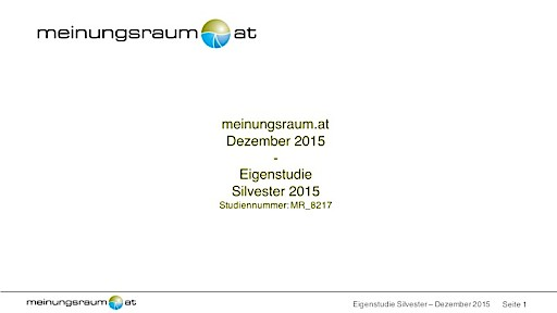 meinungsraum.at-Umfrage: Jeder zehnte Österreicher lehnt Silvester grundsätzlich ab
