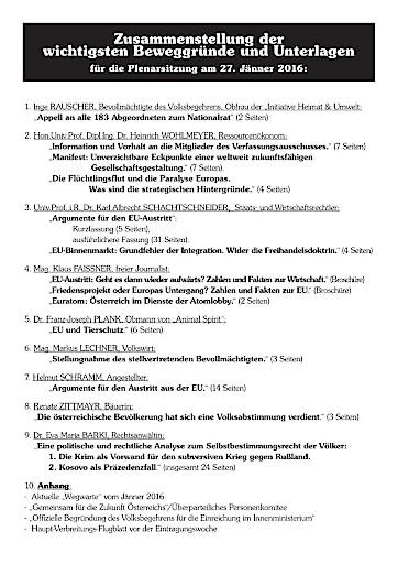 EU-AUSTRITTS-VOLKSBEGEHREN: Entscheidet das Parlament für eine Volksabstimmung zum EU-Austritt?