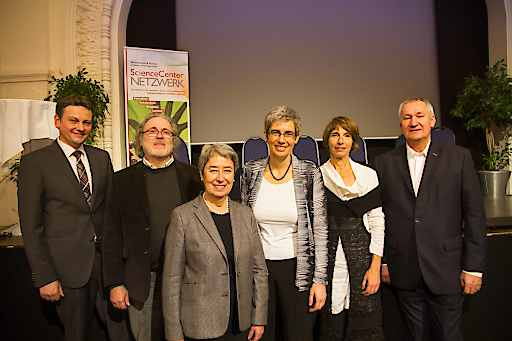 v.l.n.r. Wolfgang Haidinger, Wolfgang Czerny, Margit Fischer, Barbara Streicher, Catherine Franche, Josef Fröhlich