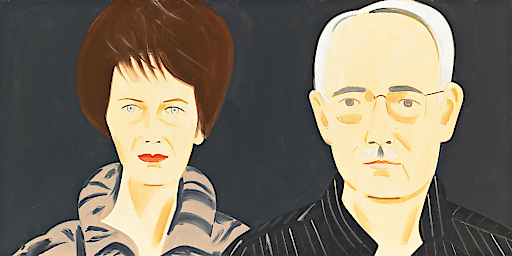Alex Katz, Agnes and Karlheinz Essl, 2010 Öl auf Leinen / oil on canvas 122 x 244 cm © BILDRECHT Wien, 2016 Fotonachweis: Mischa Nawrata, Wien