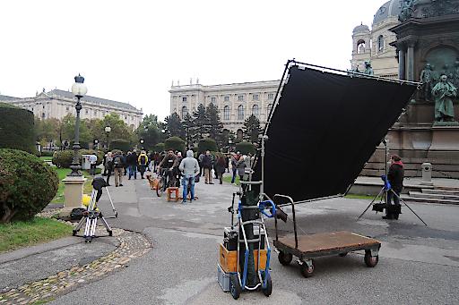Dreharbeiten zu AE DIL HAI MUSHKIL (Dharma Productions), Maria-Theresien-Platz, 1010 Wien
