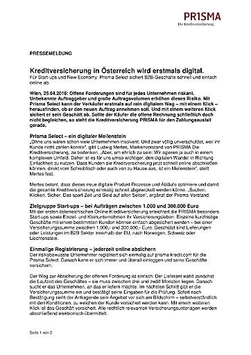 Kreditversicherung in Österreich wird erstmals digital