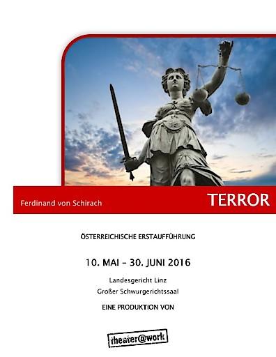 """Österreichische Erstaufführung von Ferdinand von Schirachs Erfolgsstück """"Terror"""" im Linzer Landesgericht."""