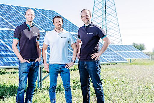 Das Skyability Gründerteam - v.l.n.r Philipp Knopf, Lukas Unger, Joachim Fertl