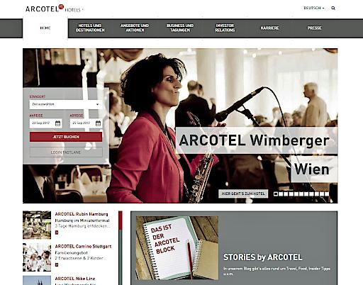 neue Homepage www.arcotelhotels.com