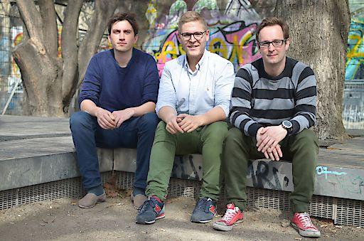 Die StoreMe-Gründer v.l.n.r.: Ferdinand Dietrich, Johannes Braith, Christoph Sandraschitz, Bildcredits © StoreMe