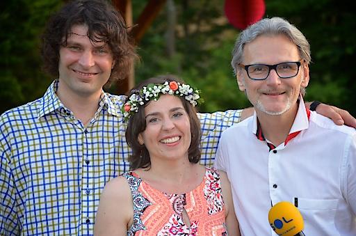 Im Bild v.l.n.r. Josef und Ute Dietmann (Eigentümer Krainerhütte) sowie Gerhard Pellegrini (Moderation)